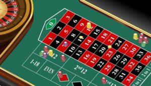 bermain roulette dengan menyebar chips